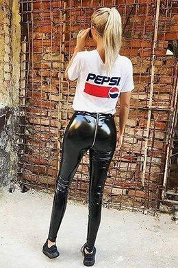 pvc shiny leggings