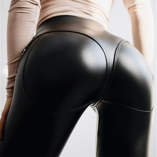 526055aee82 faux leather thong high waist leggings zipper shiny wet look pvc latex