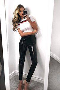 ultra shiny pvc leggings leather wetlook instagram bestseller