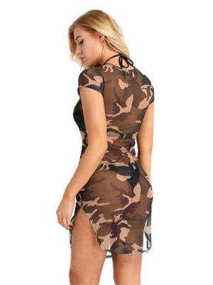 transparent camo dress