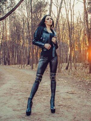 vegan leather leggings zipper