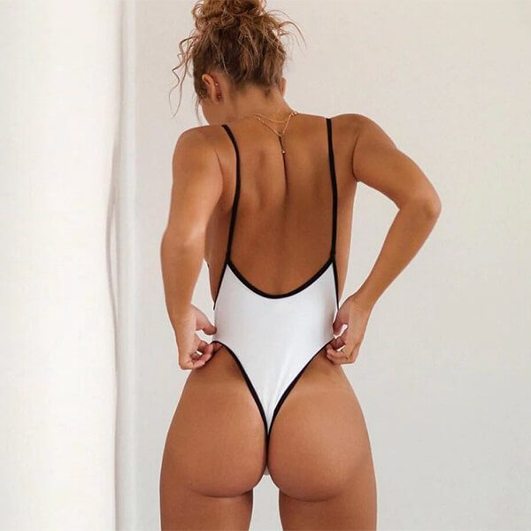 thong swimsuit white