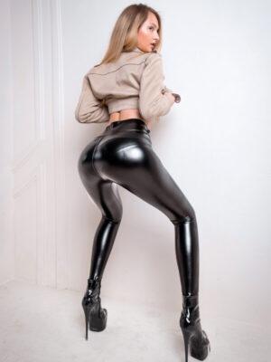 high waist leather leggings lalelookcom
