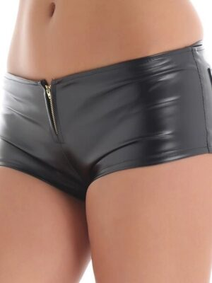 Smooth Night Leather Shorts