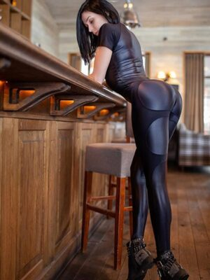 watch my curves leather jumpsuit