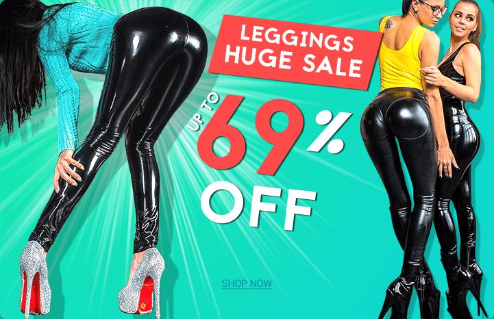 shiny leather leggings sale