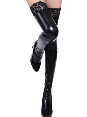 glam girl leather stockings