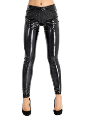 Hole in one Latex Pants with hole