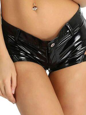 Confident diva Shiny mini Shorts