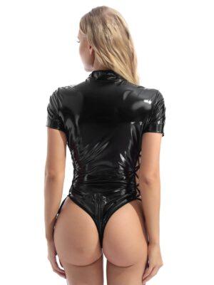 shiny PVC adult costume