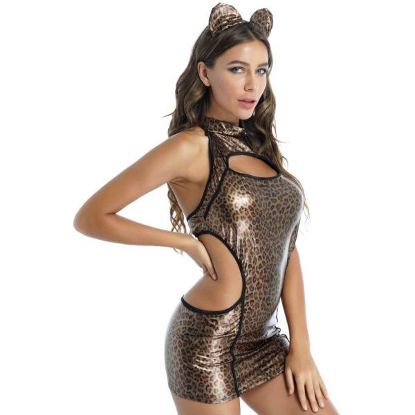 leopard lingerie costume